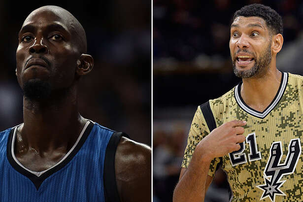 Kevin Garnett and Tim Duncan