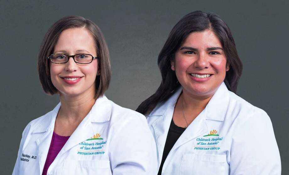 Dr. Tanya Rackley (left) and Dr. Lorelei Gonzalez are seeing patients at the Children's Hospital of San Antonio's new clinic in Alamo Ranch on the far West Side. Photo: Children's Hospital Of San Antonio / Matthew Chase