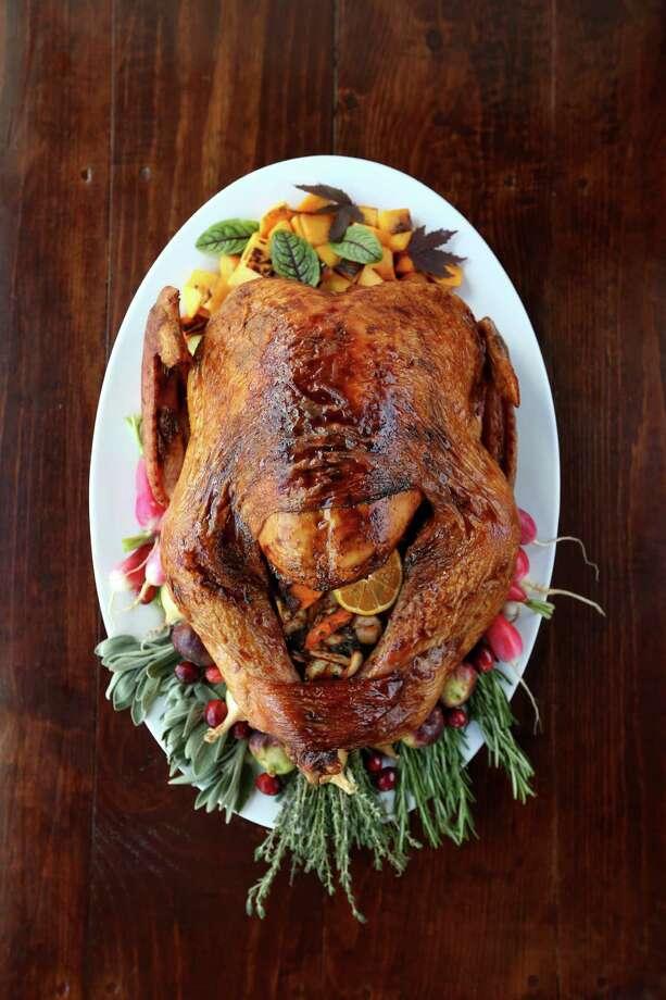 Southern Goods Thanksgiving turkey prepared by chef J. D. Woodward Tuesday, Nov. 3, 2015, in Houston. ( Gary Coronado / Houston Chronicle ) Photo: Gary Coronado, Staff / © 2015 Houston Chronicle