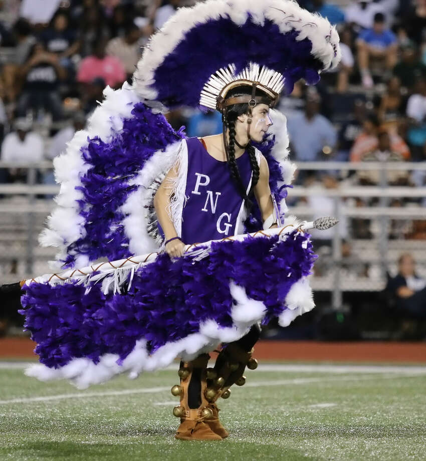 The Indian Spirit performs during halftime of game between the Port Neches-Groves Indians and the West Orange-Stark Mustangs at The Reservation, Friday, September 4, 2015.  Photo provided by Kyle Ezell