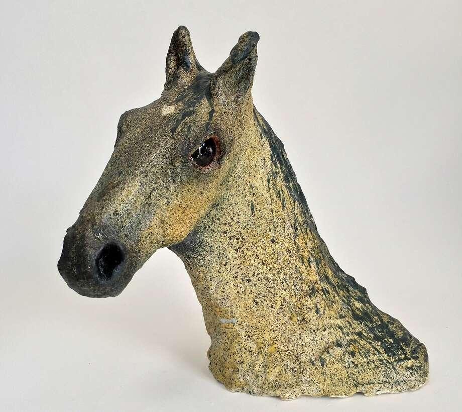 """""""Grullo"""" is a ceramic sculpture. Photo: Amy Evans McClure, Handout"""
