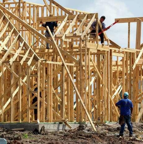 Lennar is building this home in the Richmond area.  Photo: Bob Levey, Photographer / ©2015 Bob Levey