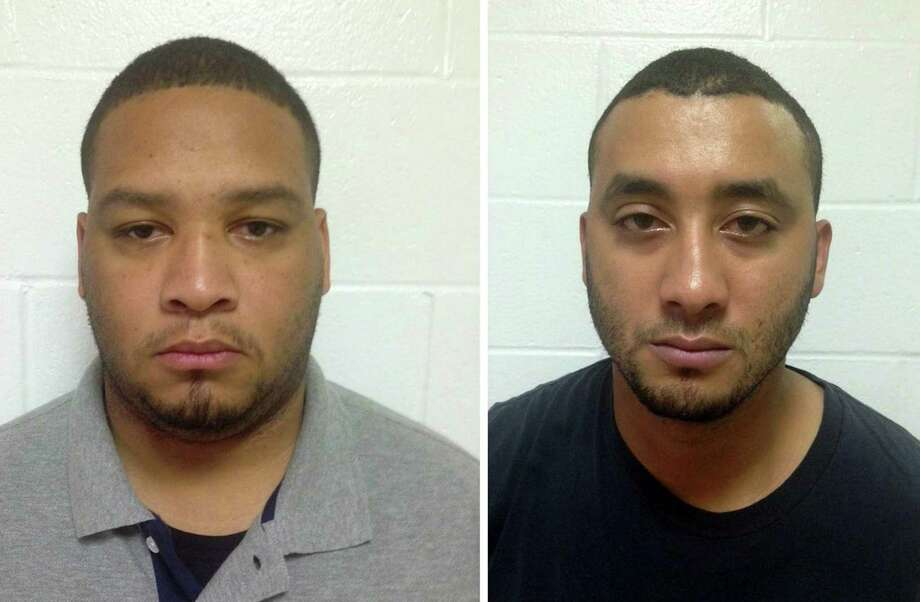 """This Louisiana State Police photo combo obtained November 7, 2015 show Derrick Stafford (L) and Norris Greenhouse, Jr.  Two US law enforcement officers have been arrested on charges of murder and attempted murder over the fatal shooting of a six-year-old boy in Louisiana, officials said. The death of Jeremy Mardis will add to growing criticism over perceived brutality in US police forces after several high-profile incidents over the last year. City marshals Norris Greenhouse, 23, and Derrick Stafford, 32, were arrested on November 6, 2015 following an incident on November 3 in which they opened fire on a vehicle, killing the boy and critically wounding his father, Chris Few, who was driving. The boy was reportedly hit by five bullets in the head and the chest. AFP PHOTO/LOUISIANA STATE POLICE = RESTRICTED TO EDITORIAL USE- MANDATORY CREDIT """"AFP PHOTO / LOUISIANA STATE POLICE/HANDOUT"""" -NO MARKETING NO ADVERTISING CAMPAIGNS - DISTRIBUTED AS A SERVICE TO CLIENTS = NO A LA CARTE SALES     HO/AFP/Getty Images Photo: HO, Handout / AFP / Getty Images / AFP"""