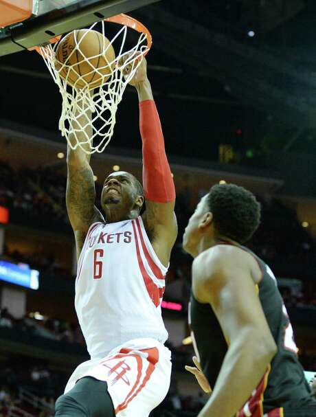 Rockets forward Terrence Jones is expected to play against the Nets on Wednesday. Photo: Jon Shapley, Staff / © 2015  Houston Chronicle