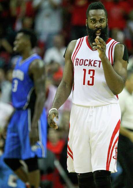 During the Rockets' 4-0 week, James Harden became the franchise's first player since Moses Malone to score at least 43 points in consecutive games. Photo: Brett Coomer, Staff / © 2015 Houston Chronicle