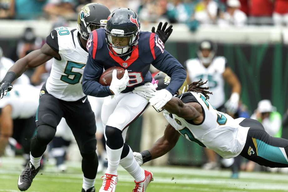 Wide receiver Cecil Shorts will return for the Texans against the Bengals on Monday night after suffering a hamstring injury against the Jaguars. Photo: Brett Coomer, Staff / © 2015  Houston Chronicle