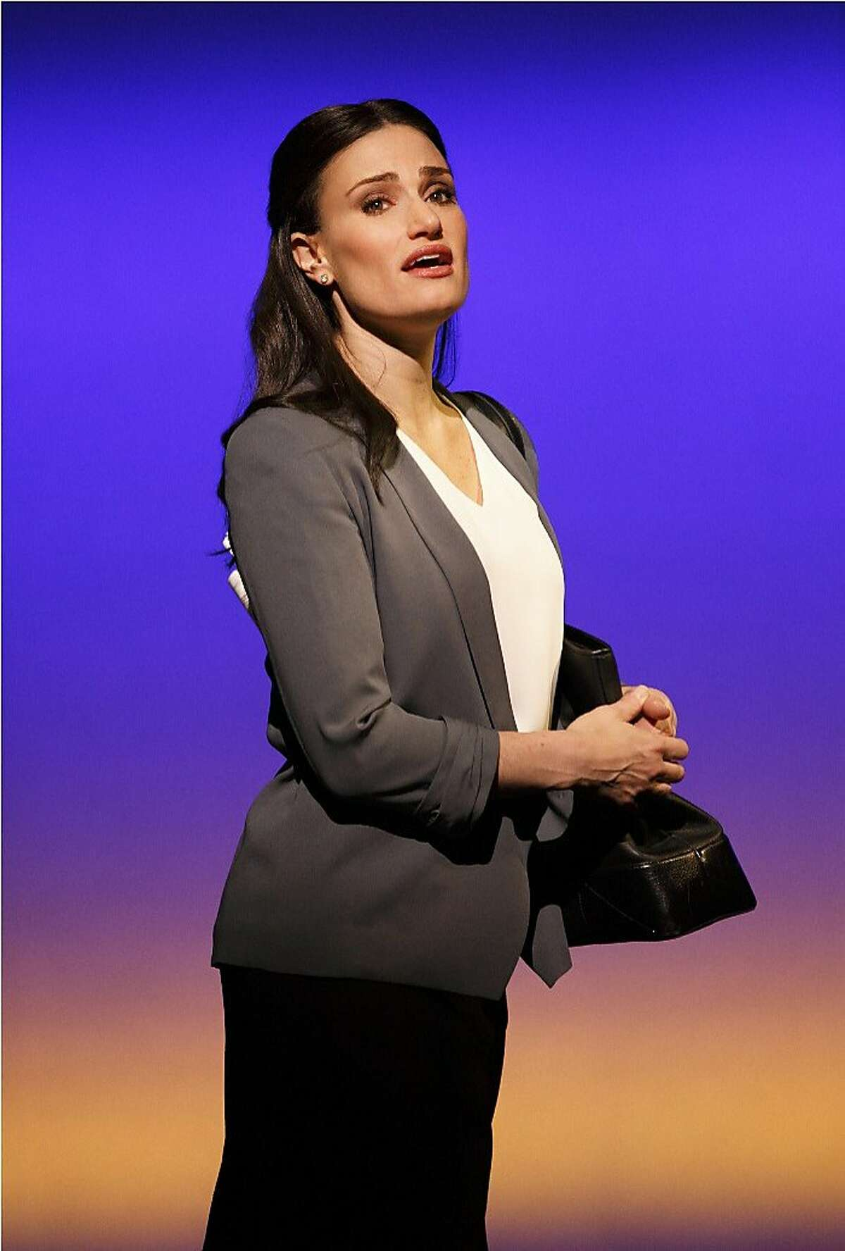 Idina Menzel plays Liz and Beth, the alternate lives Elizabeth might lead in