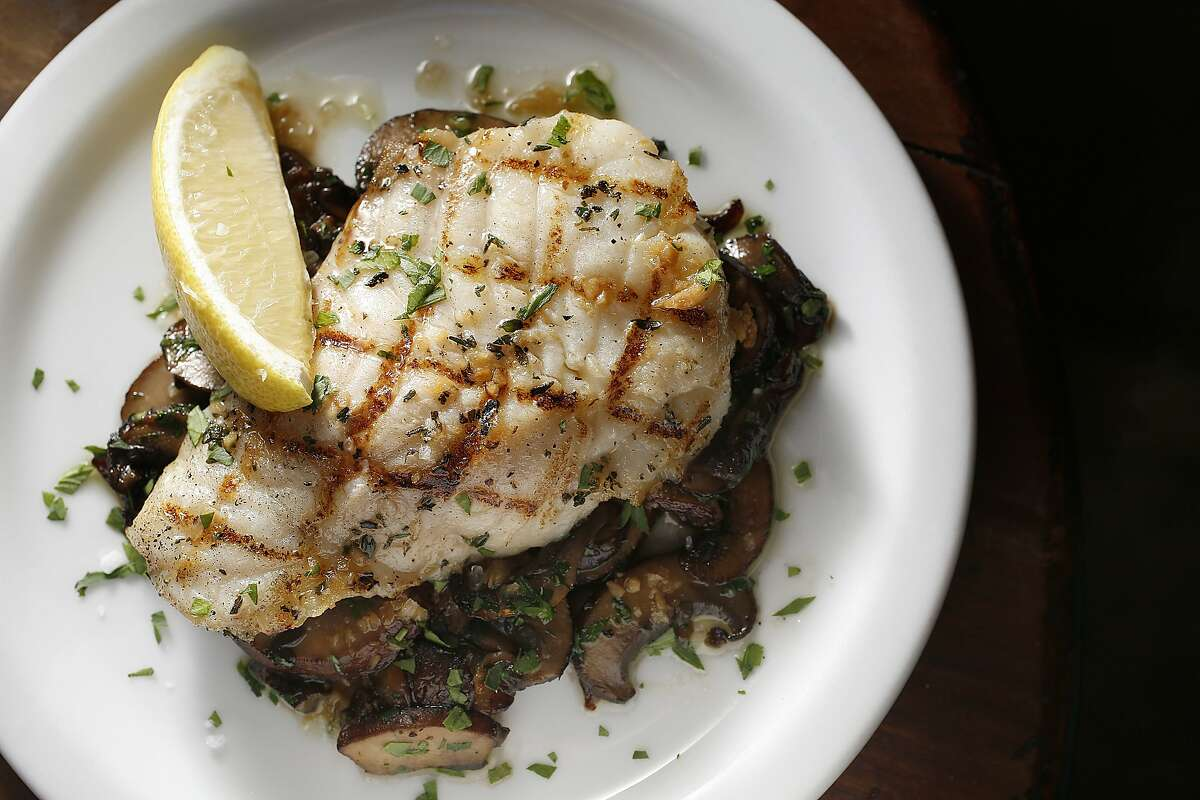 Grilled ling cod seen at Cesar in Berkeley, Calif., on Monday, November 9, 2015.