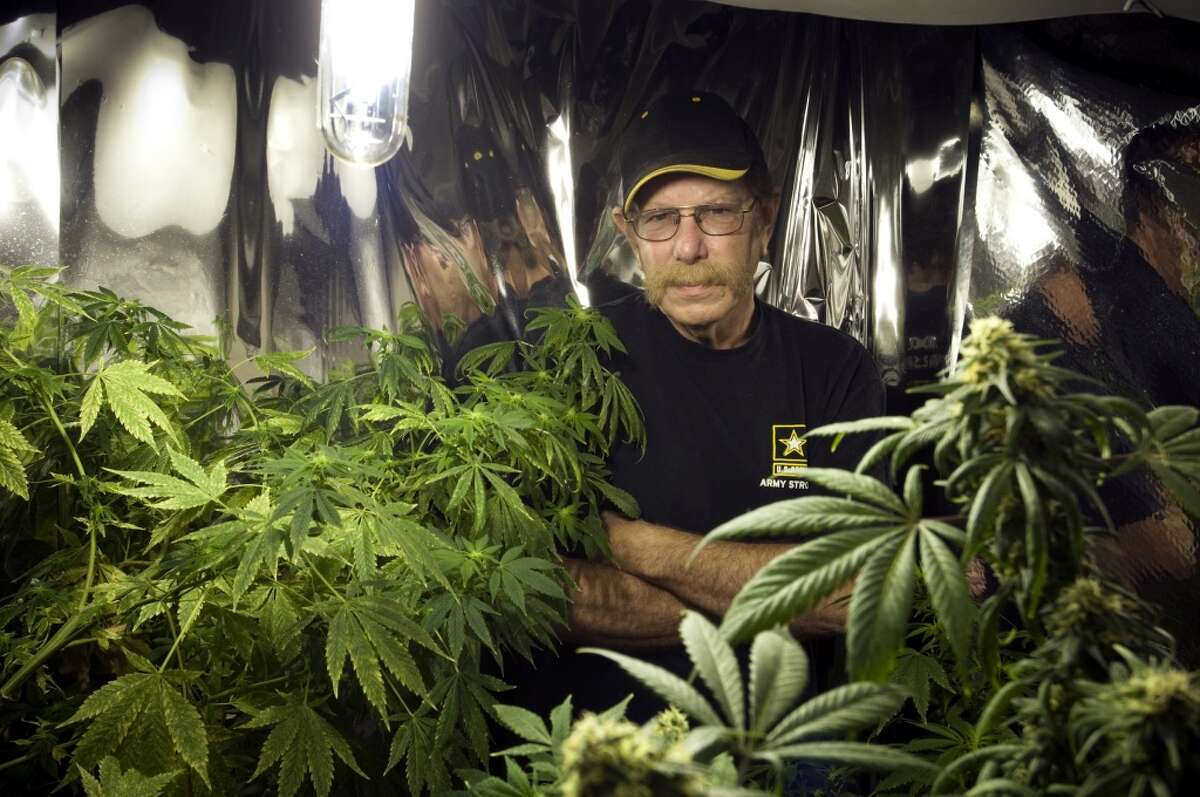 David Fox, an Army veteran that uses medical marijuana to deal with the pain from neuropathy, at his home in PompeyâÄôs Pillar, Mont., July 23, 2010. The Department of Veterans Affairs will formally allow patients treated at its hospitals and clinics to use medical marijuana in states where it is legal. (Tony Demin/The New York Times)