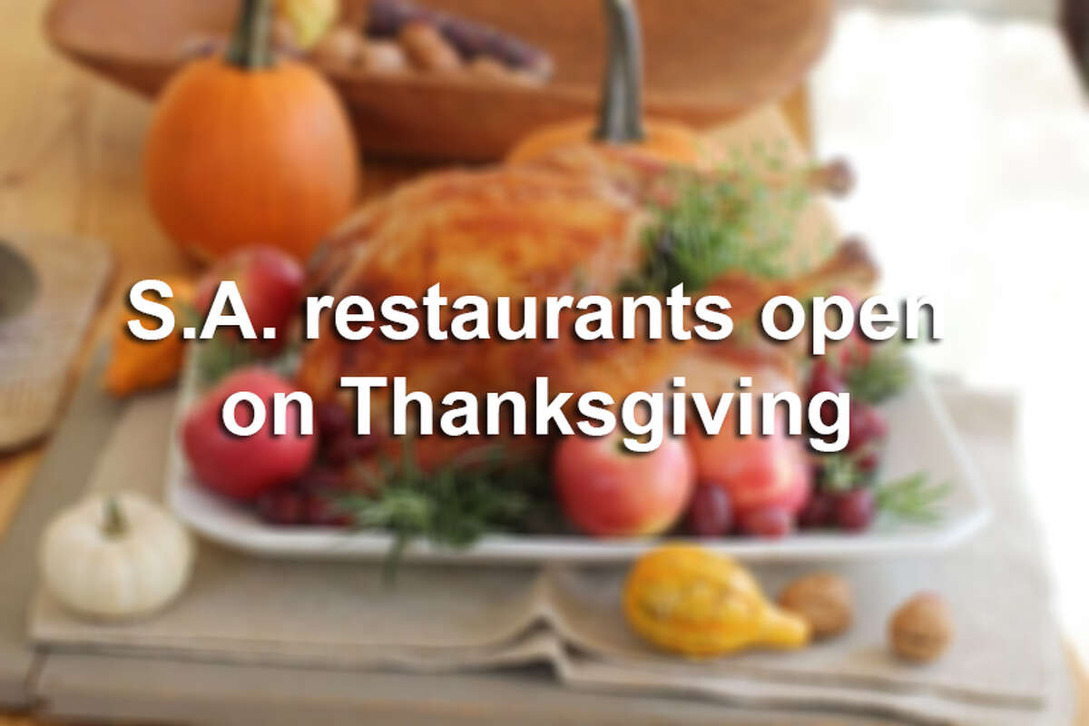 Plenty of restaurants in San Antonio will be offering the traditional turkey dinner with all the fixings. Click through the slideshow to get the skinny on what's open and what they're serving.