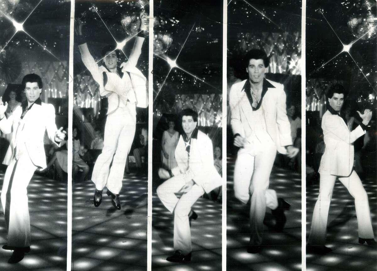 Paramount Pictures presents John Travolta in Saturday Night Fever.