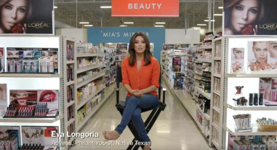 Eva Longoria can be seen here highlighting the beauty aisle of H-E-B in a new commercial. Photo: White, Tyler L, YouTube