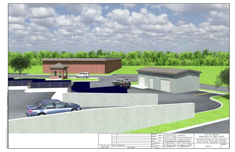 An architect's rendering of Ansonia's new transfer station to be completed by summer Photo: / Contributed Photo
