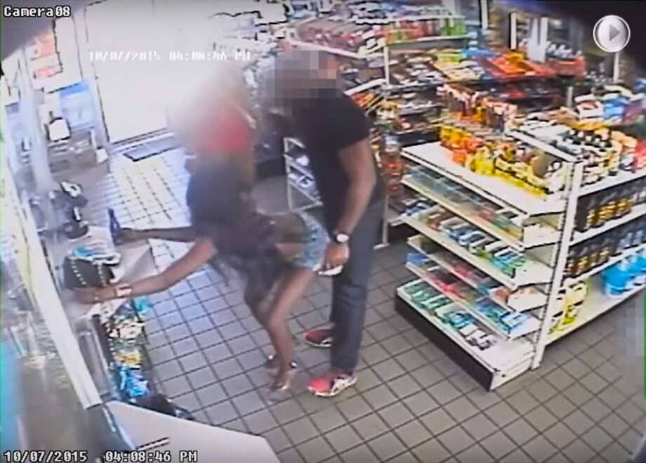 Two women are wanted on felony charges after surveillance video caught them twerking on and fondling an unknown male patron of a convenience store. Photo: Washington D.C. Metropolitan Police Department