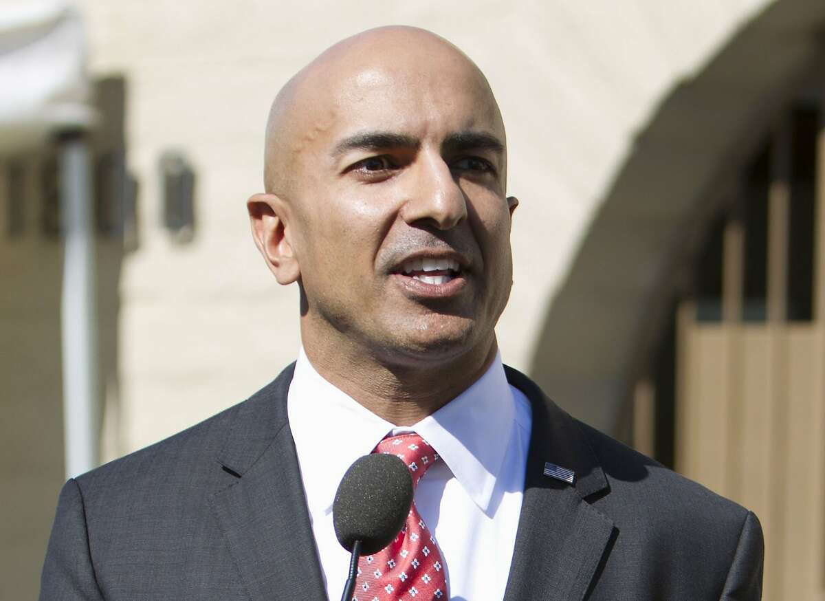 FILE - In this July 21, 2014 file photo, Neel Kashkari speaks in Sacramento, Calif. Kashkari, a prominent business executive and one-time candidate for governor of California, has been chosen to be the head of the Federal Reserve's regional bank in Minneapolis. (AP Photo/Steve Yeater, File)