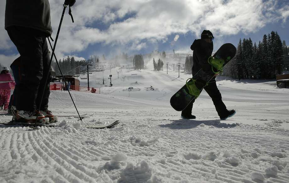 Two lifts are in operation at Boreal Mountain Resort after a series of storms pounded the Sierra in recent days. Photo: Michael Macor, The Chronicle