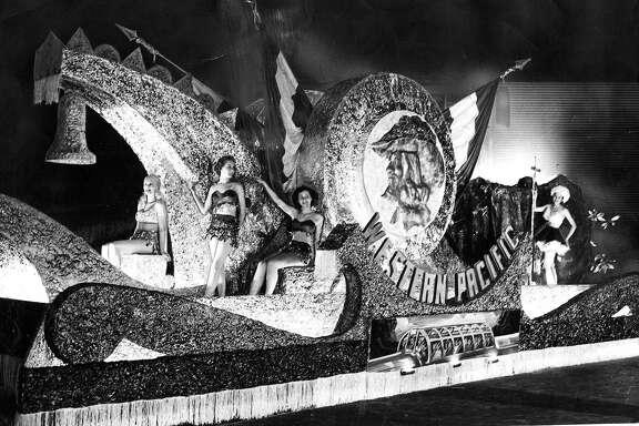 Portola Festival closing parade .. evening parade October 23, 1948