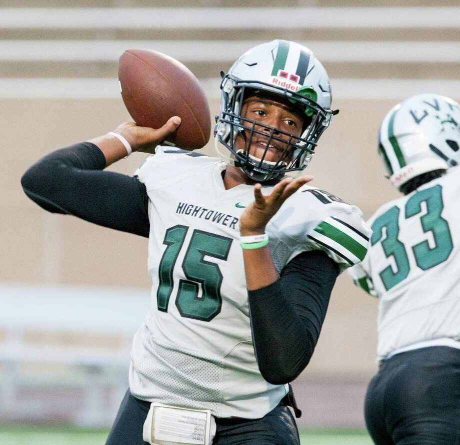 It feels like the Prairie View A&M Panthers have a budding star at quarterback in Hightower product Neiko Hollins, who impressed this spring as a sophomore. Photo: Juan DeLeon / Houston Chronicle