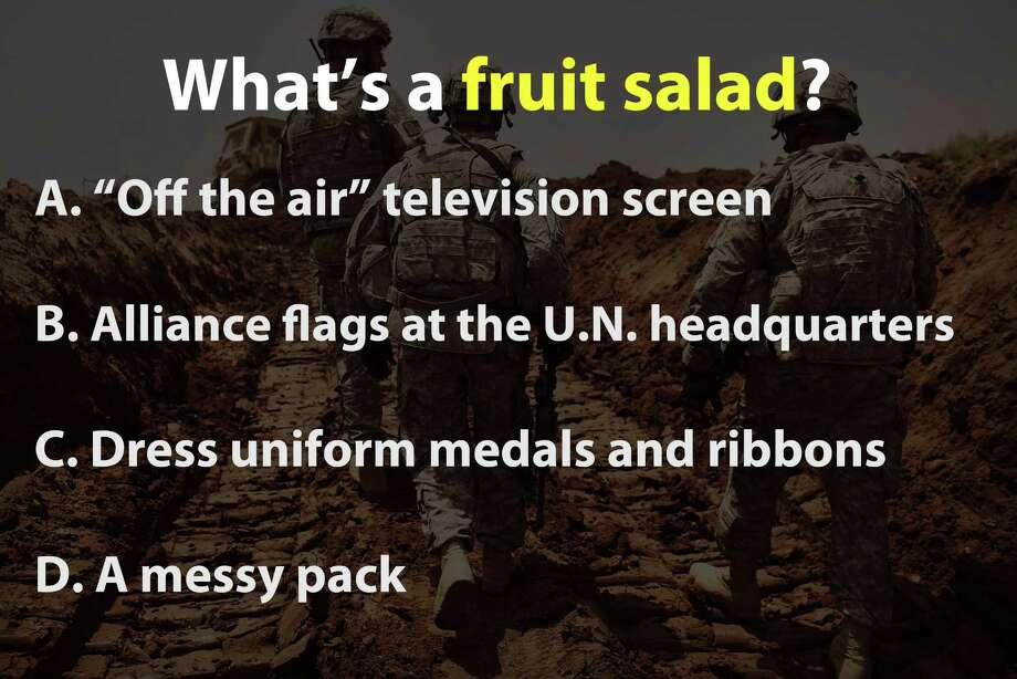 Can you guess these military terms? Photo: Spencer Platt, Getty Images / 2011 Getty Images