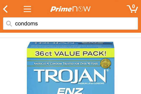 2.Condoms. When you haven't got time for that clerk's sly smile at your neighborhood convenience or drug store.