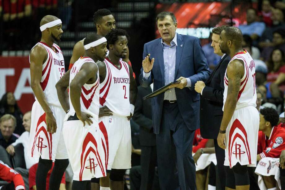 Regardless of who's starting, Rockets coach Kevin McHale wants his team to employ crisp ball movement and adequate spacing on offense. Photo: Brett Coomer, Staff / © 2015 Houston Chronicle