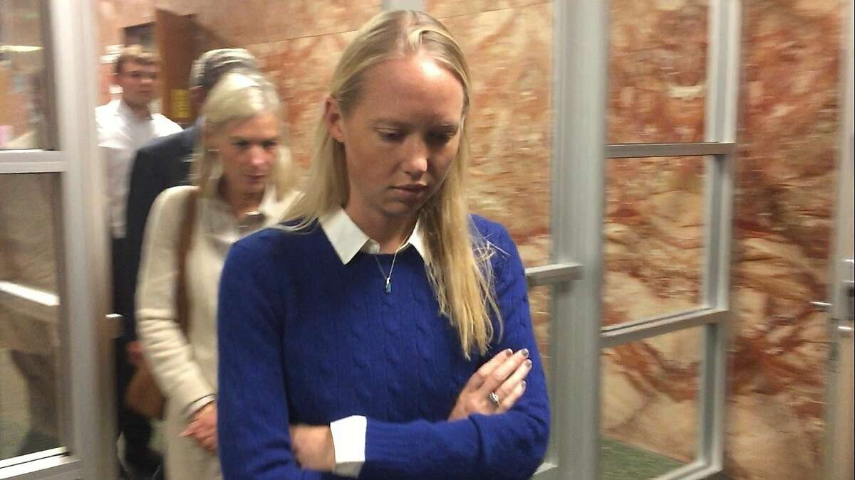 Kirsten Andereck, 30, pleaded not guilty to four felonies Tuesday in San Francisco Superior Court. She is accused of hitting two boys in a Marina District crosswalk while she was drunk behind the wheel of an SUV on Wednesday.