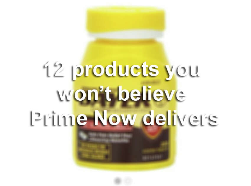 Amazon's Prime Now app delivers just about anything from condoms to Kindles to your front door in as little as one hour. Click ahead for some crazy ideas.