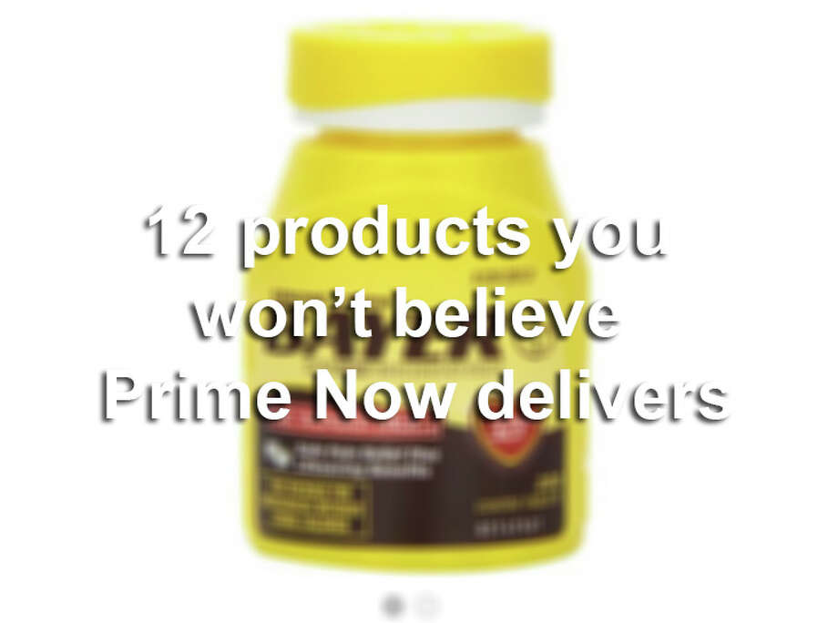 Amazon's Prime Now app delivers just about anything from condoms to Kindles to your front door in as little as one hour. Click ahead for some crazy ideas. Photo: San Antonio Express-News