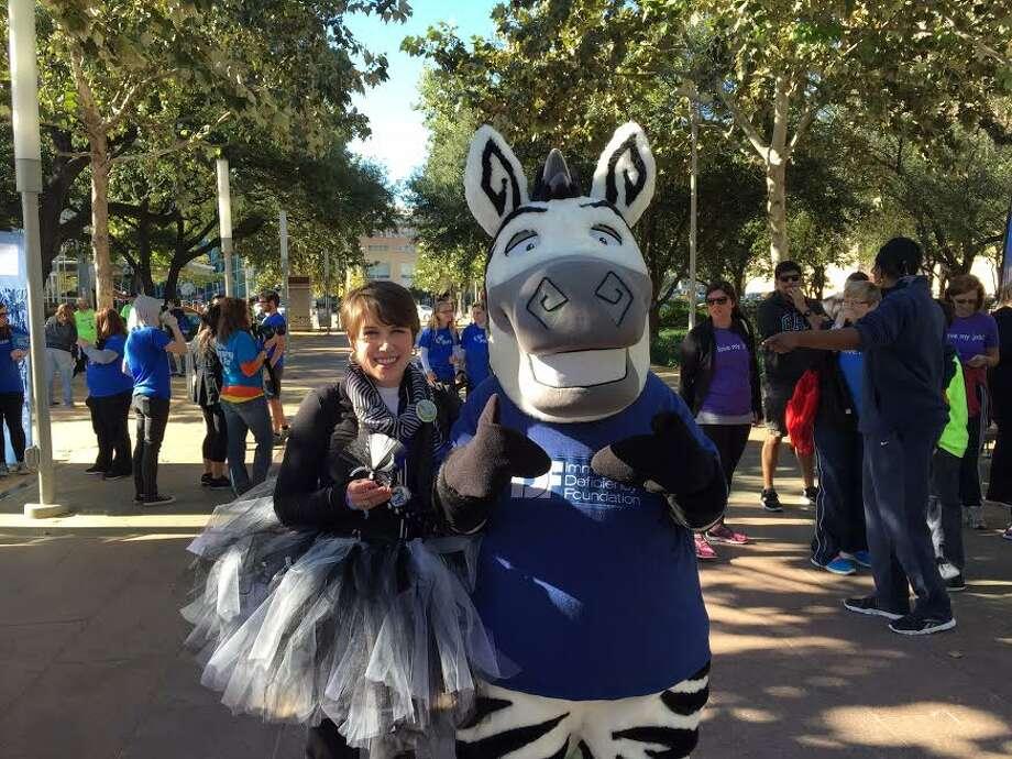 Megan Ryan, 39, at the 2014 Walk for PI Houston.