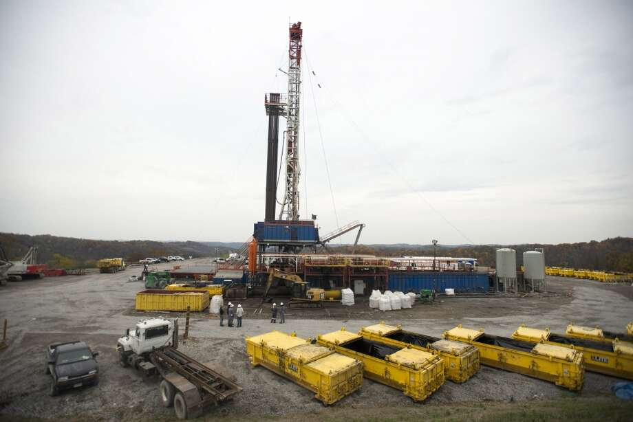 EQT Corp. pictured drilling a well. Photo: Ty Wright, Bloomberg News