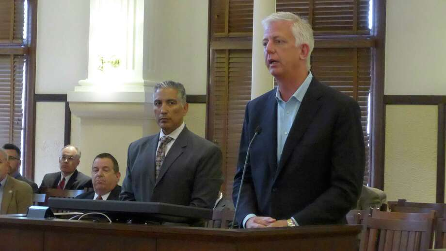Gordon Hartman addresses Bexar County Commissioners Court regarding county plans to purchase Toyota Field from the developer. A reader expresses concern that the deal may hurt taxpayers in the long run. Photo: John W. Gonzalez /San Antonio Express-News / San Antonio Express-News