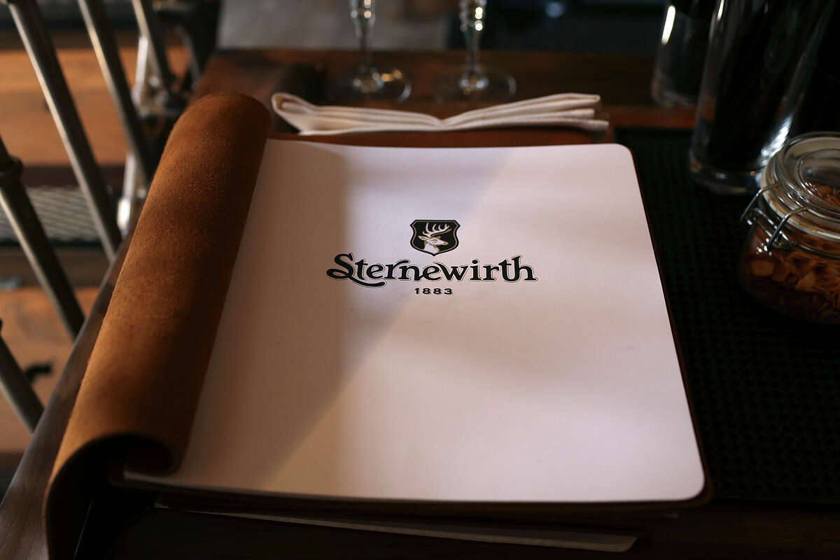 A detail from the Sternewirth 1883 bar at Hotel Emma, Monday, Nov. 9, 2015. The hotel, in the Pearl and was the former brewery, is scheduled to open this Thursday.