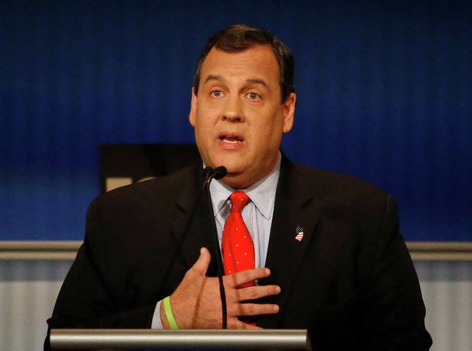 Chris Christie speaks during Republican presidential debate at Milwaukee Theatre, Tuesday, Nov. 10, 2015, in Milwaukee. (AP Photo/Morry Gash) Photo: Morry Gash, STF / AP