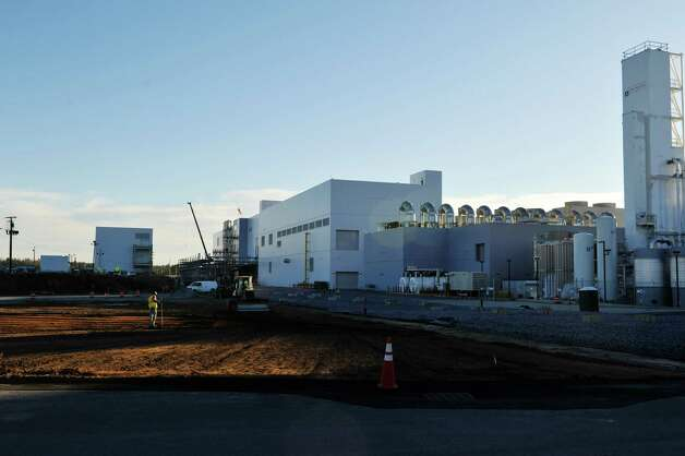 A view of ongoing construction work that is part of the utility infrastructure for the entire site at GlobalFoundries Fab 8 seen here on Monday, Nov. 9, 2015, in Malta, N.Y.  (Paul Buckowski / Times Union) Photo: PAUL BUCKOWSKI / 00034137A