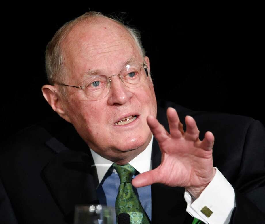 FILE - In this July 15, 2015, file photo, Supreme Court Justice Anthony Kennedy speaks at the Ninth Circuit Judicial Conference in San Diego. Kennedy has emerged as a powerful new ally for prison reform advocates who have spent years campaigning against solitary confinement.  (AP Photo/Denis Poroy, File) Photo: Denis Poroy, FRE / FR59680 AP