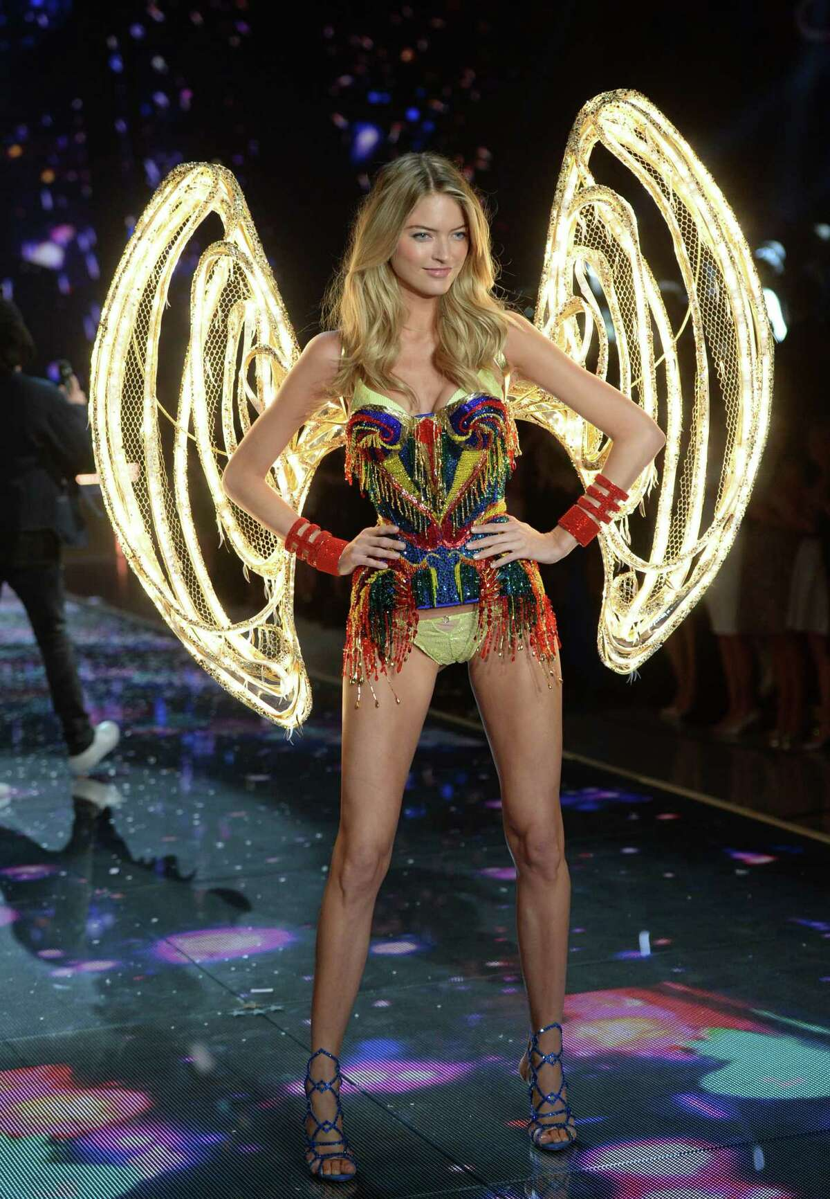 Martha Hunt walks the runway during the Victoria's Secret Fashion Show at the Lexington Armory on Tuesday, Nov. 10, 2015, in New York. The Victoria's Secret Fashion Show will air on CBS on Tuesday, Dec. 8, at 10pm EST. (Photo by Evan Agostini/Invision/AP)