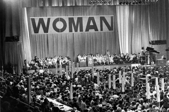 11/1977 - The National Women's Conference, held in the Sam Houston Coliseum from November 18-21, 1977, was sponsored by the National Commission on the Observance of International Women's Year, a group appointed by President Carter.