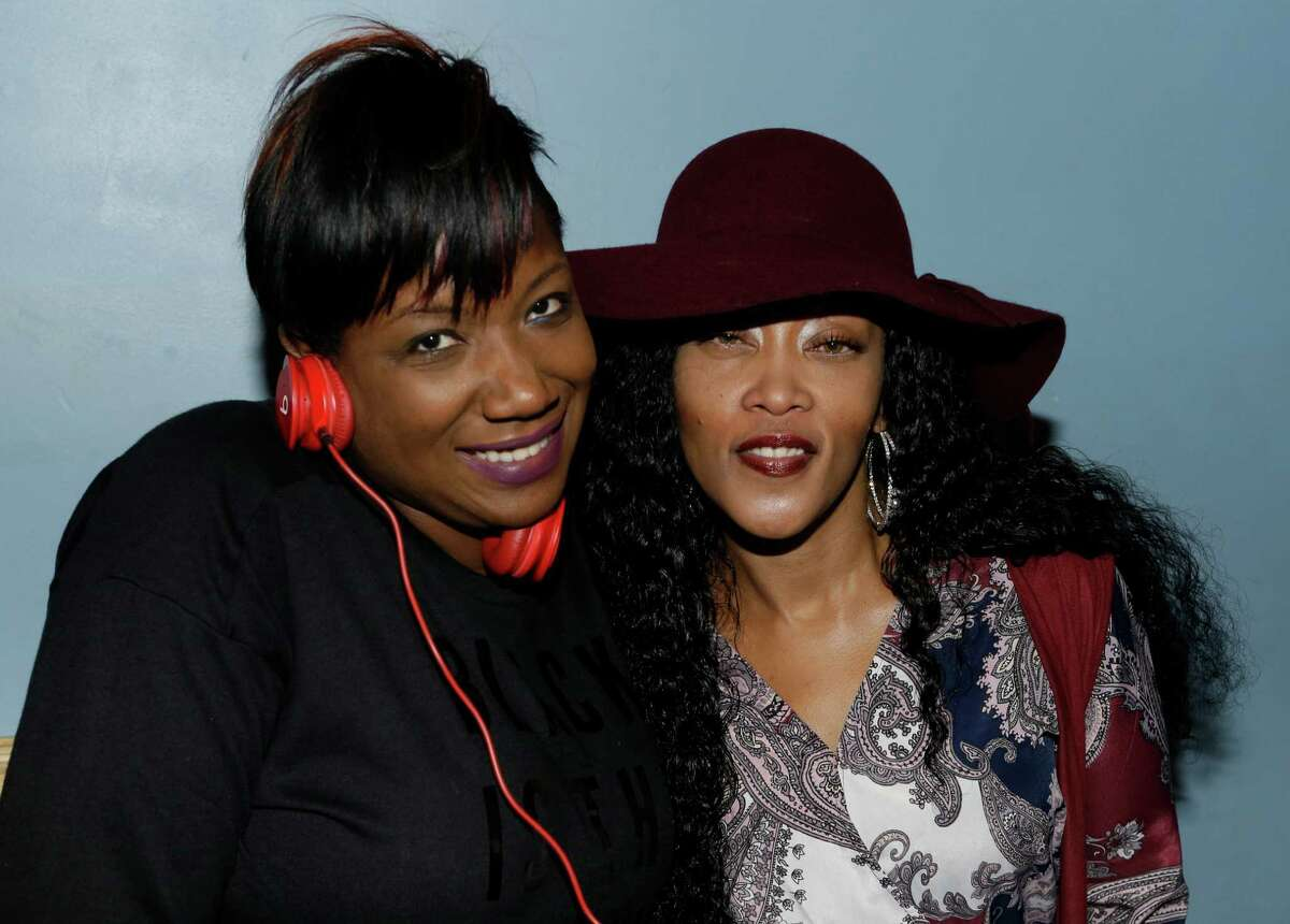DJ SupaStar, left, and Chinara Butler during the listening event for rapper Pimp C's posthumous album Long Live The Pimp held at the Social Junkie, 2412 Washington Ave., Tuesday, Nov. 10, 2015, in Houston.