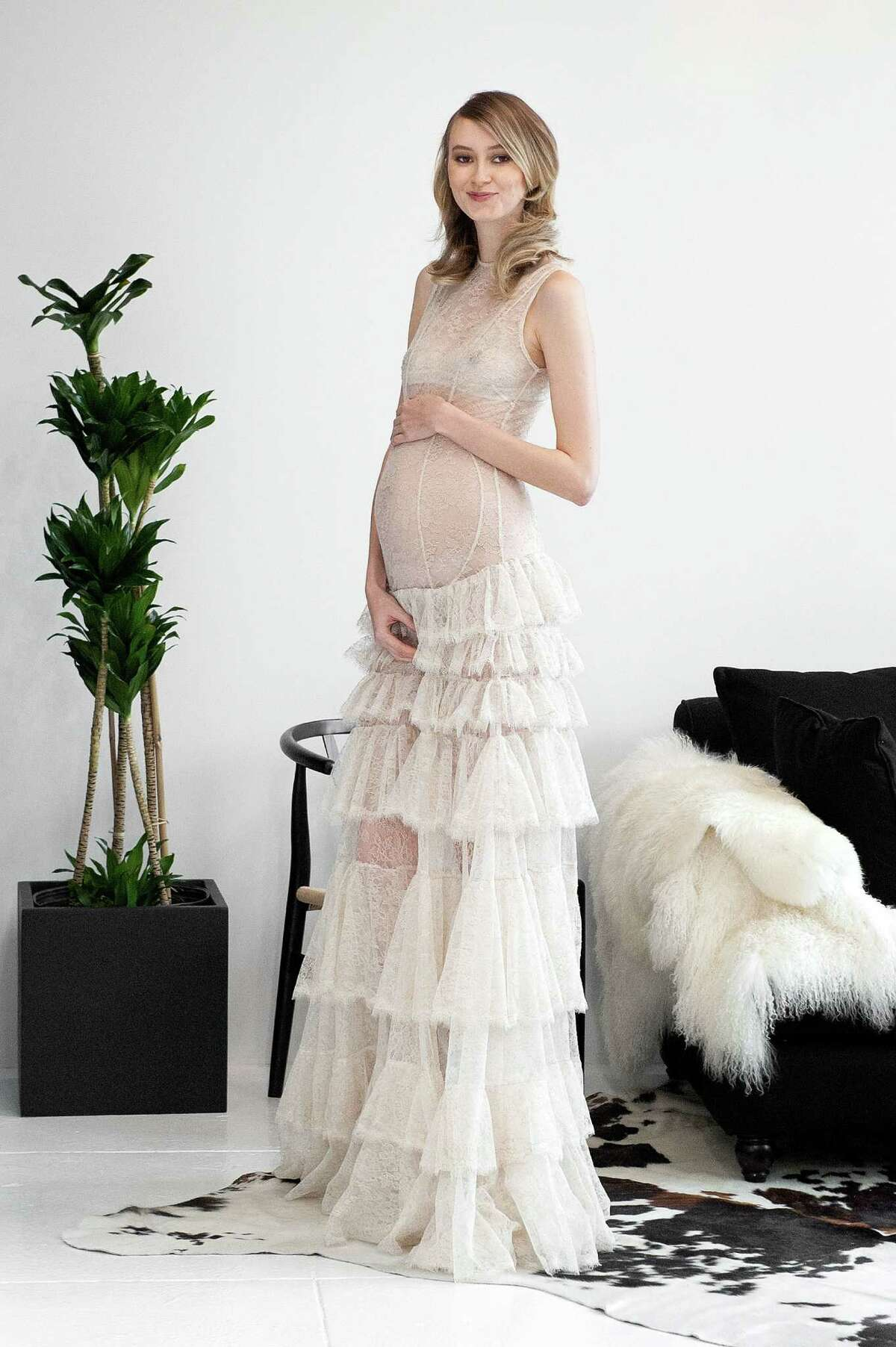 Show off that adorable pregnancy bump - and everything else - in this gown.