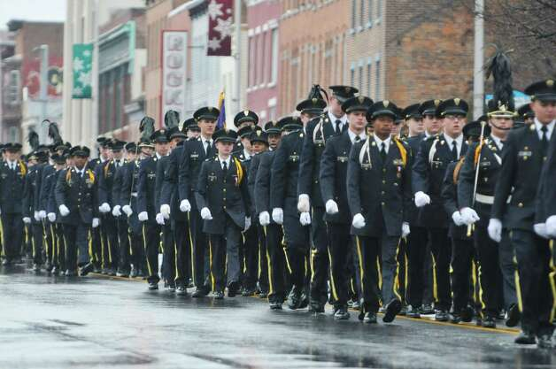 Christian Brothers Academy students march down Central Ave. as they take part in the 64th Annual Albany Veterans Day Parade on Wednesday, Nov. 11, 2015, in Albany, N.Y.  (Paul Buckowski / Times Union) Photo: PAUL BUCKOWSKI / 00034155A