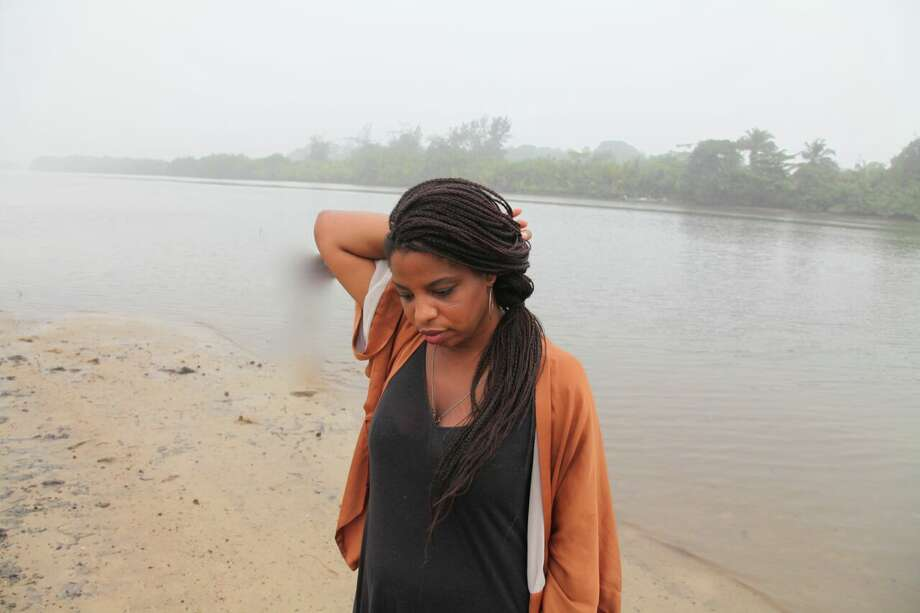 Zina Saro-Wiwa at Kono Beach in Ogoniland. Photo: Zina Saro-Wiwa/Blaffer Art Museum