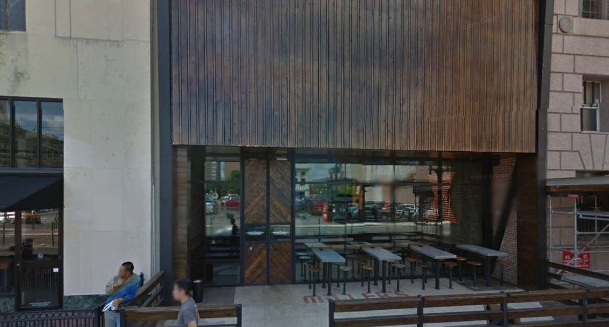 Outside look at Bovine and Barley, 416 Main St. in Houston.