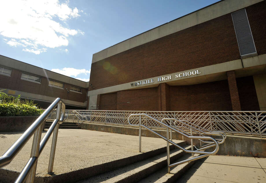 The exterior of Westhill High School in Stamford, Conn. Photo: Jason Rearick / Jason Rearick / Stamford Advocate