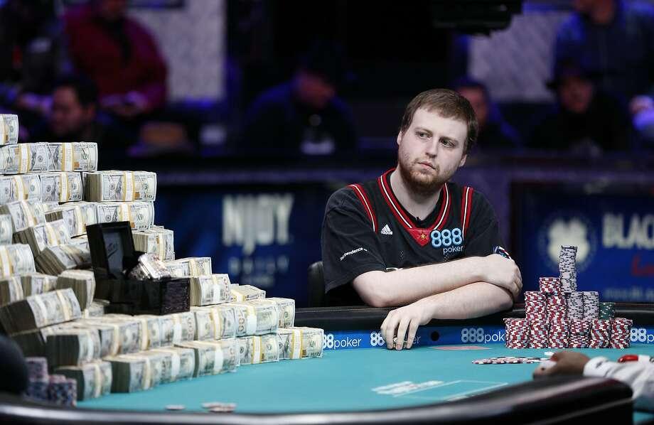 Joseph McKeehen plays during the Main Event of the World Series of Poker on Tuesday, Nov. 10, 2015, in Las Vegas. (AP Photo/John Locher) Photo: John Locher, Associated Press