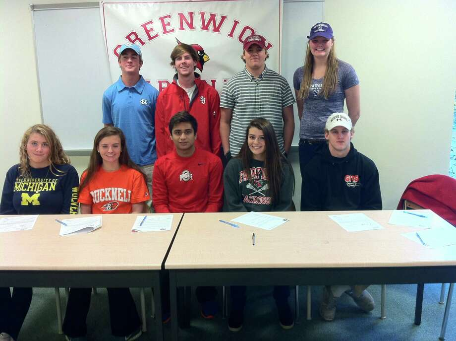Nine Greenwich High School Athletes Sign National Letters Of