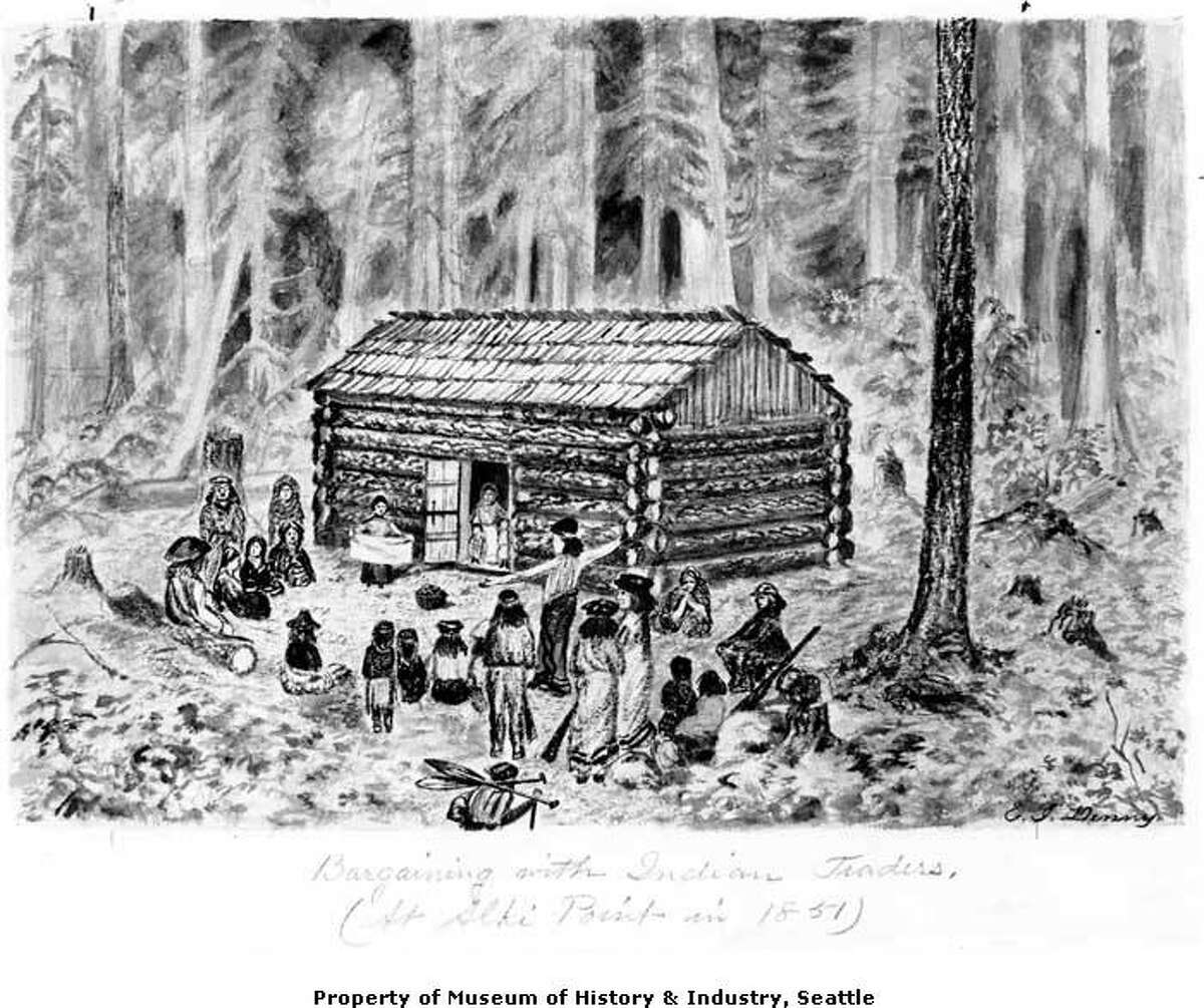 1851 - Seattle's pioneering Denny Party initially set up shop in what is now West Seattle, founding New York-Alki. They moved to the Pioneer Square area and, in fit of good judgement, rechristened the settlement after Suquamish Chief Si'ahl.