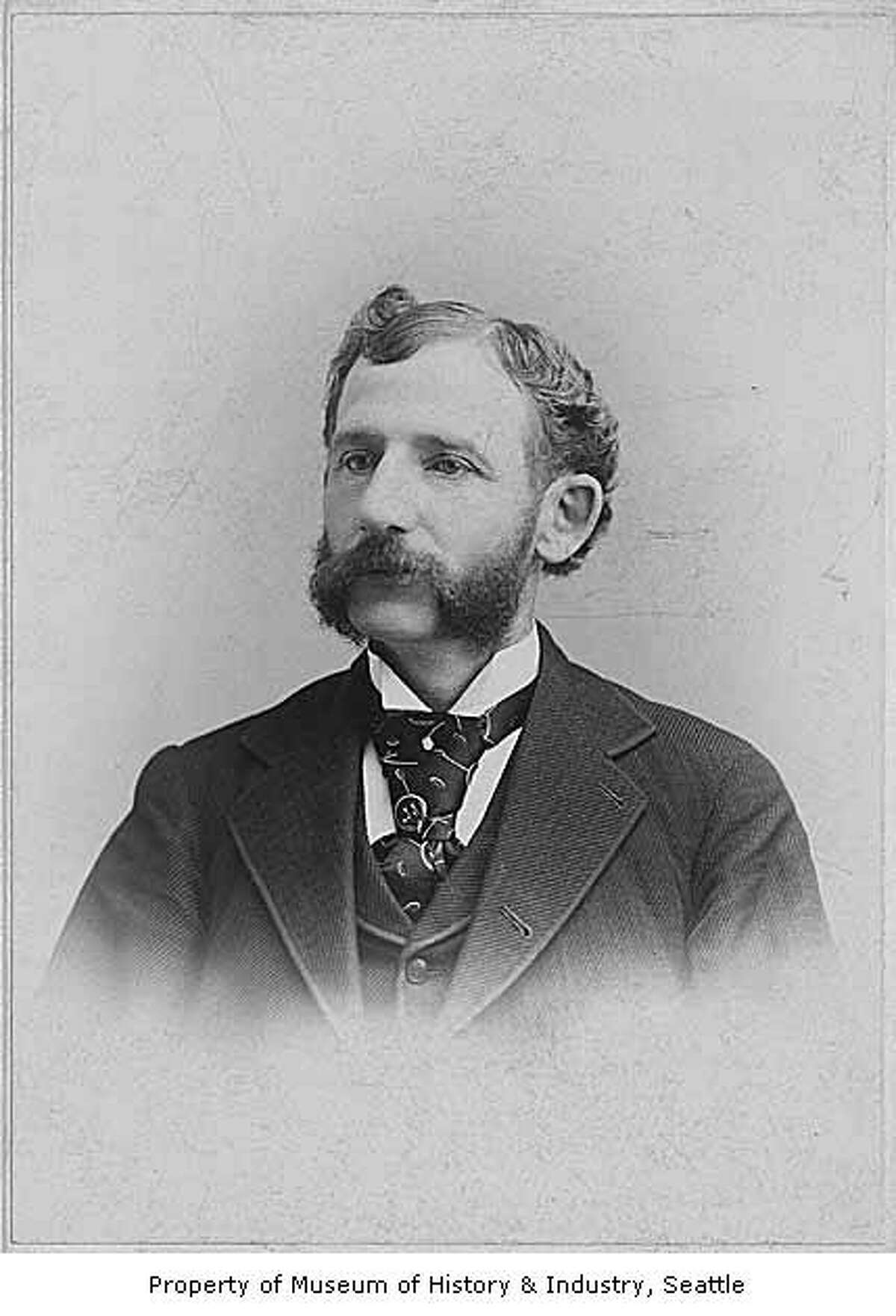 Rolland H. Denny, son of Arthur Denny, is shown here in roughly 1892. Rolland was only six weeks old at the time of the landing at Alki, having been born in Oregon in September, according to historylink.org. Photo courtesy MOHAI, Seattle Historical Society Collection, image number shs2188.