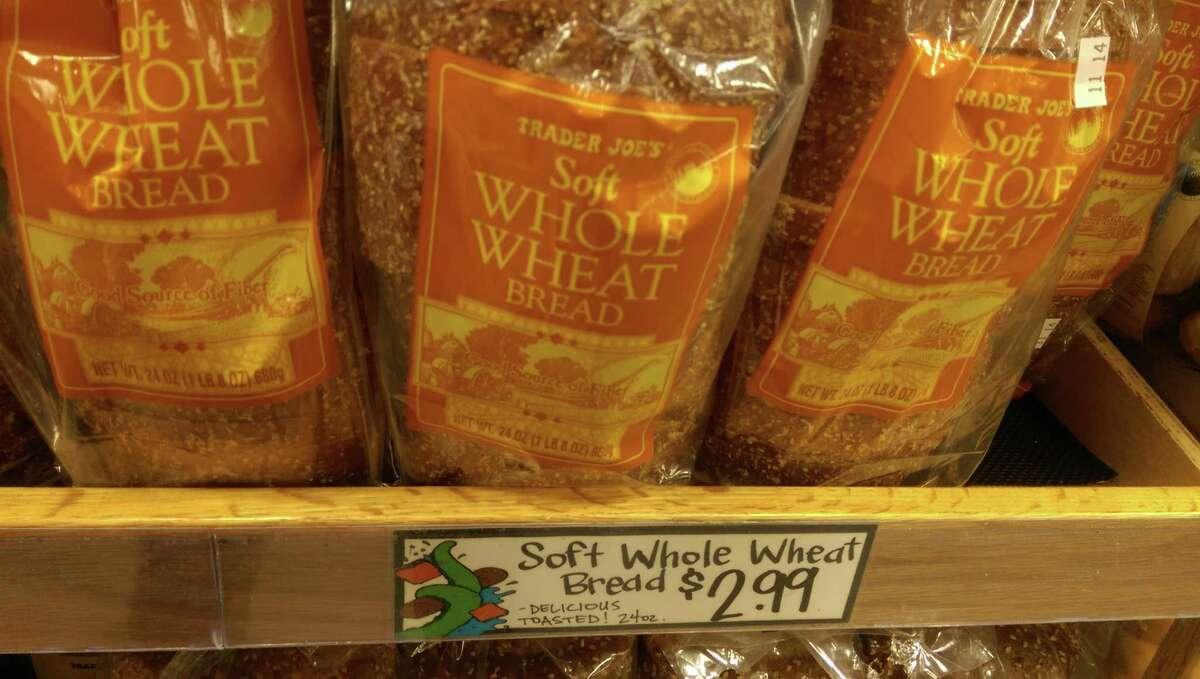 Trader Joe's Store brand whole wheat bread: $2.99
