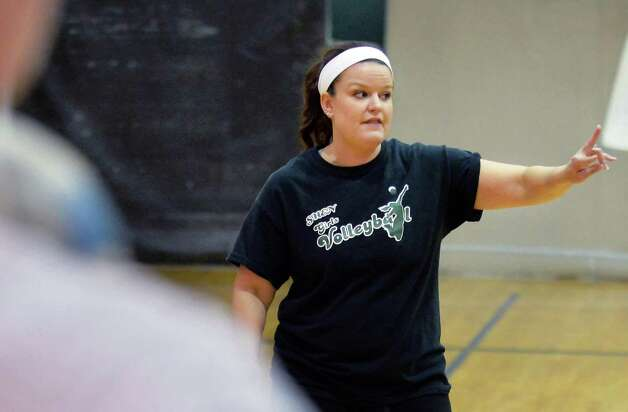 Shenendehowa girls' volleyball coach Lori Kessler practicing her team for their upcoming Class AA regional Wednesday Nov. 11, 2015 in Clifton Park, NY.  (John Carl D'Annibale / Times Union) Photo: John Carl D'Annibale / 00034185A