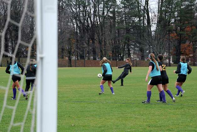The University at Albany women's soccer team prepares for their first ever trip to the NCAA Tournament on Wednesday, Nov. 11, 2015 in Albany, N.Y.  (Lori Van Buren / Times Union) Photo: Lori Van Buren / 00034170A